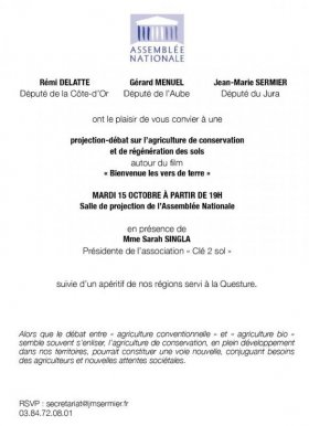 invitation Assemblee Nationale 15 oct2019